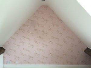 New wallpaper in bedroom