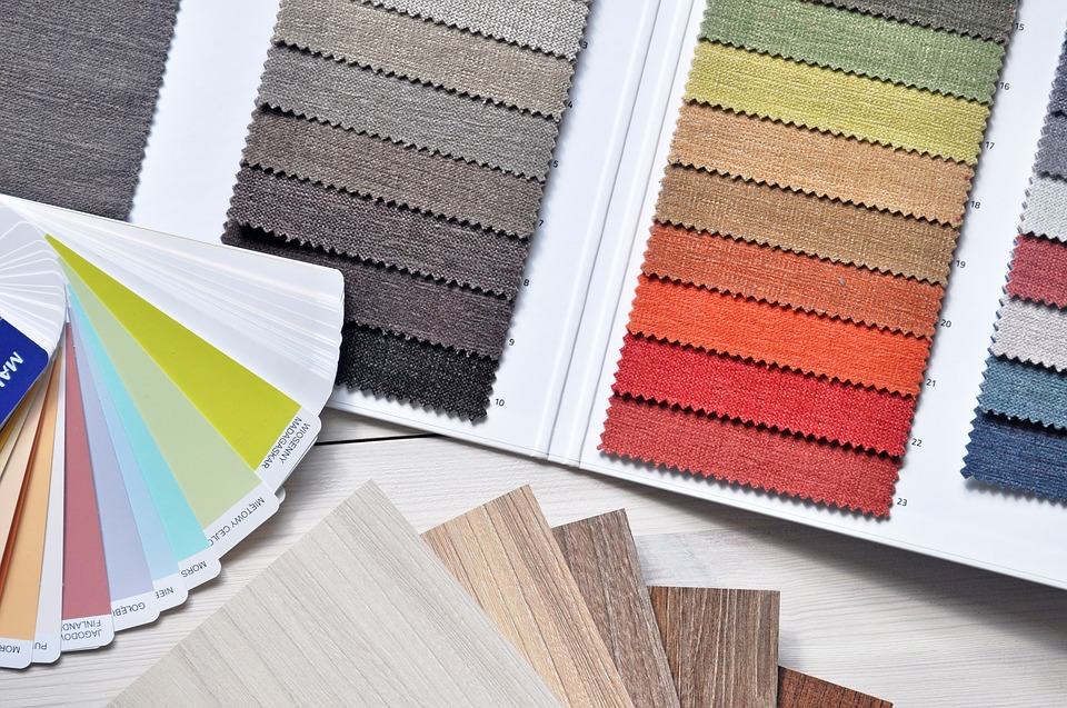 Fabrics and colour chart for your home
